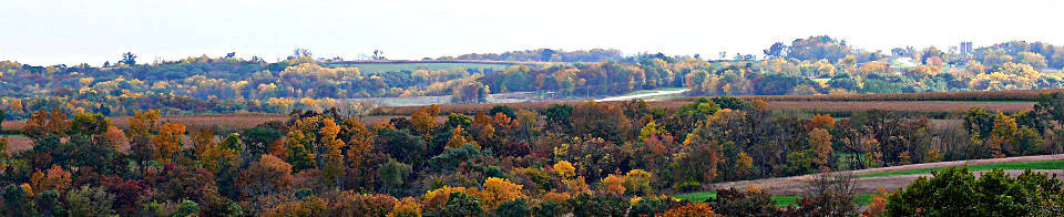Washington township rural skyline in fall colors.